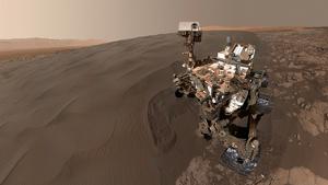 Imatge il·lustrativa de la nau 'Curiosity' a Mart