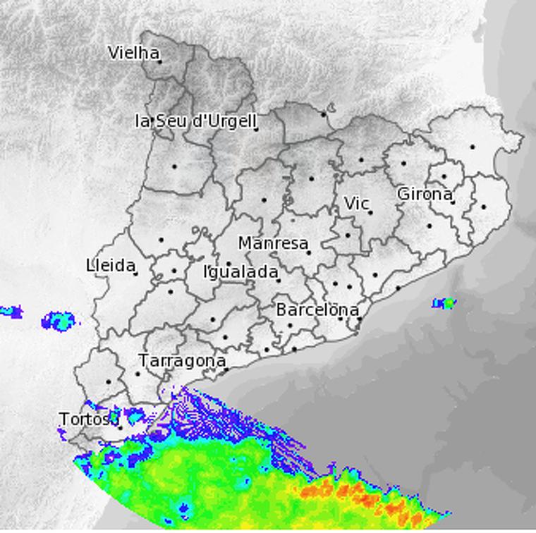 Imatge del radar aquest matí