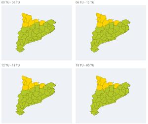 Alerta per fort vent aquest diumenge al Pirineu