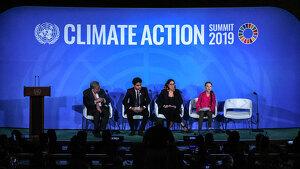 Imatge de la recent intervenció de la jove activista Greta Thunberg a l'ONU contra el canvi climàtic