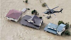 Imatge dels efectes del tifó Hagibis al Japó