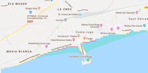 Mapa de les inundacions que patiran les platges entre el Baix Penedès i el Tarragonès