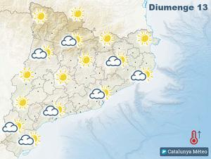 Mapa de previsió per aquest diumenge