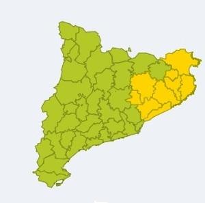 Mapa d'alertes per forts aiguats