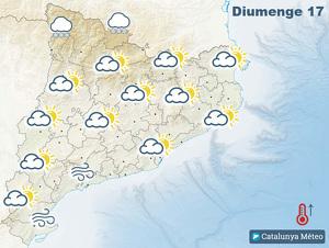 Mapa de previsió per diumenge