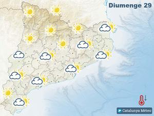 Previsió de símbols per aquest diumenge a Catalunya