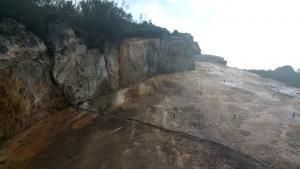Les roques es van despendre del tram de muntanya afectat per la gran esllavissada del 2013.