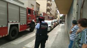 Imatge de l'incendi a Valls.
