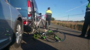 Imatge de les dues bicicletes de les ciclistes