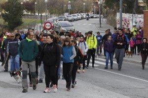 Com l'any passat la caminada ha estat solidària amb 'Fan del Lluís'.