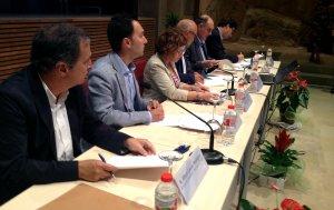 Representants municipals de Valls, Tarragona, Reus, Vandellòs i l'Hospitalet de l'Infant han signat la declaració institucional.