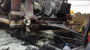 Un camió carregat de purins s'ha incendiat aquest dilluns al matí a Alcover.