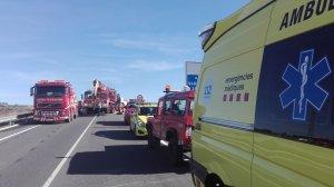 Sis dotacions dels Bombers, SEM i Mossos han treballat a l'accident.
