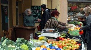 Mercat de la fruita i la verdura de Valls.