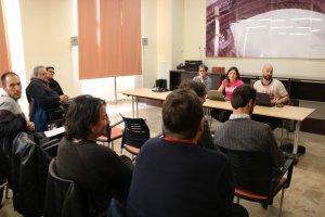 Pla obert de la reunió del consell polític de la CUP a Alcover.