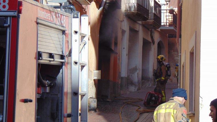 L'incendi ha estat al número 3 del carrer Major.