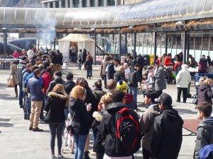 La gran participació dels andorrans va marcar la clàssica calçotada que es fa a Andorra.