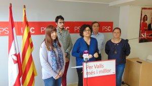 Roda de premsa del PSC sobre les mocions que presentarà al proper ple de l'Ajuntament de Valls.