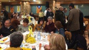 Sopar groc celebrat a Montblanc el passat divendres, 16 de març.