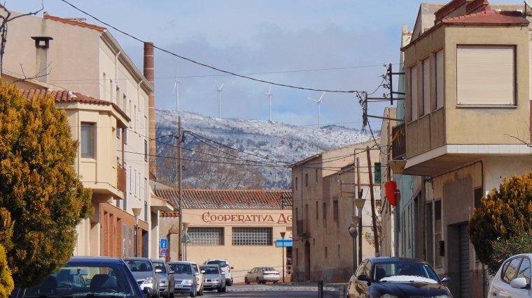 La neu vista des del Pla de Santa Maria.