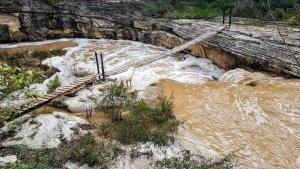 El riu Gaià ha protagonitzat una gran crescuda aquest dimecres.