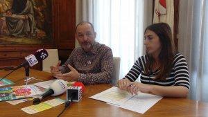 Jordi Cartanyà, regidor de Benestar Social de l'Ajuntament de Valls, durant la presentació de les sessions participatives per a la redacció del Pla.