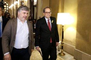 El president de la Generalitat, Quim Torra, i el diputat, Albert Batet.