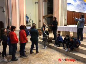 Imatges del viacrucis de l'Arxiprestat de l'Alt Camp 2019, des de Figuerola del Camp al Pla de Santa Maria