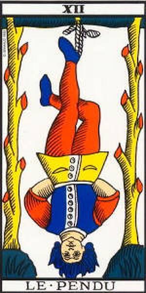 Arcano Mayor: XII El Colgado