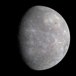 Fotografía de la Nasa del planeta Mercurio
