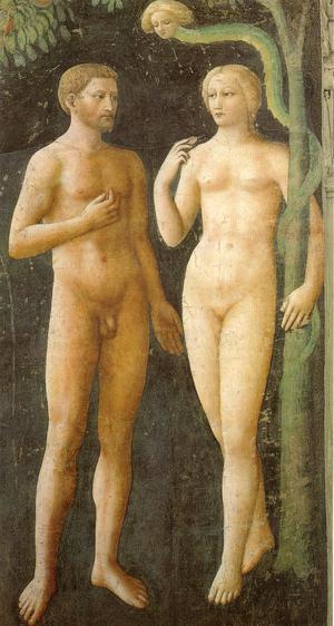La tentación de Adán y Eva, Masolino
