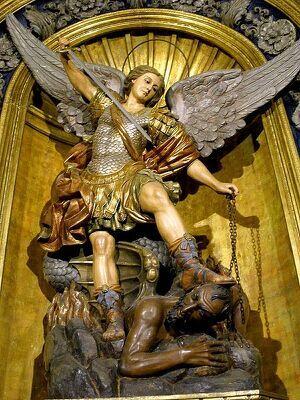 San Miguel Arcángel en la Basílica de la Merced, Barcelona