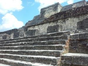 Detalle de una pirámide Maya