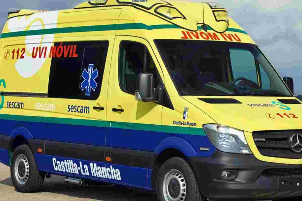 Imagen de la ambulancia de Castilla-La Mancha