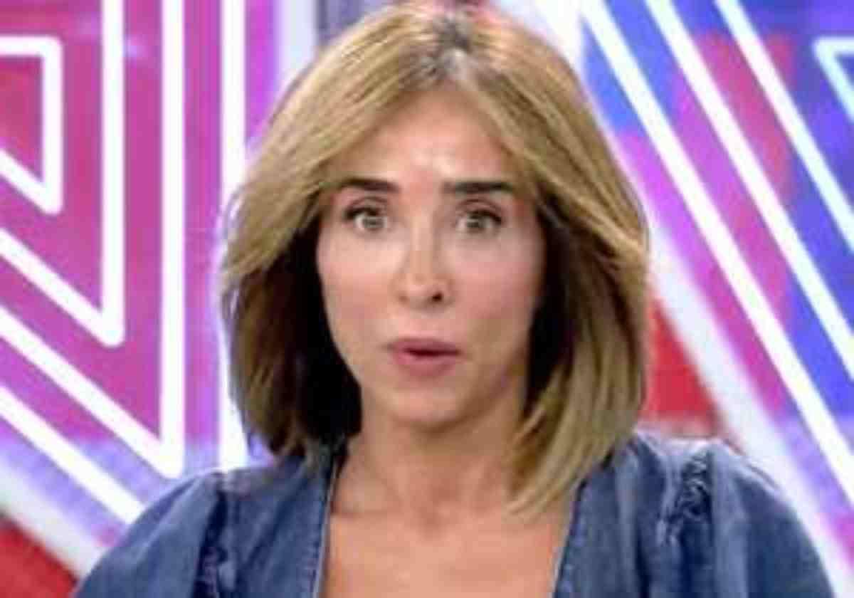 María Patiño, durante un programa de 'Sálvame'