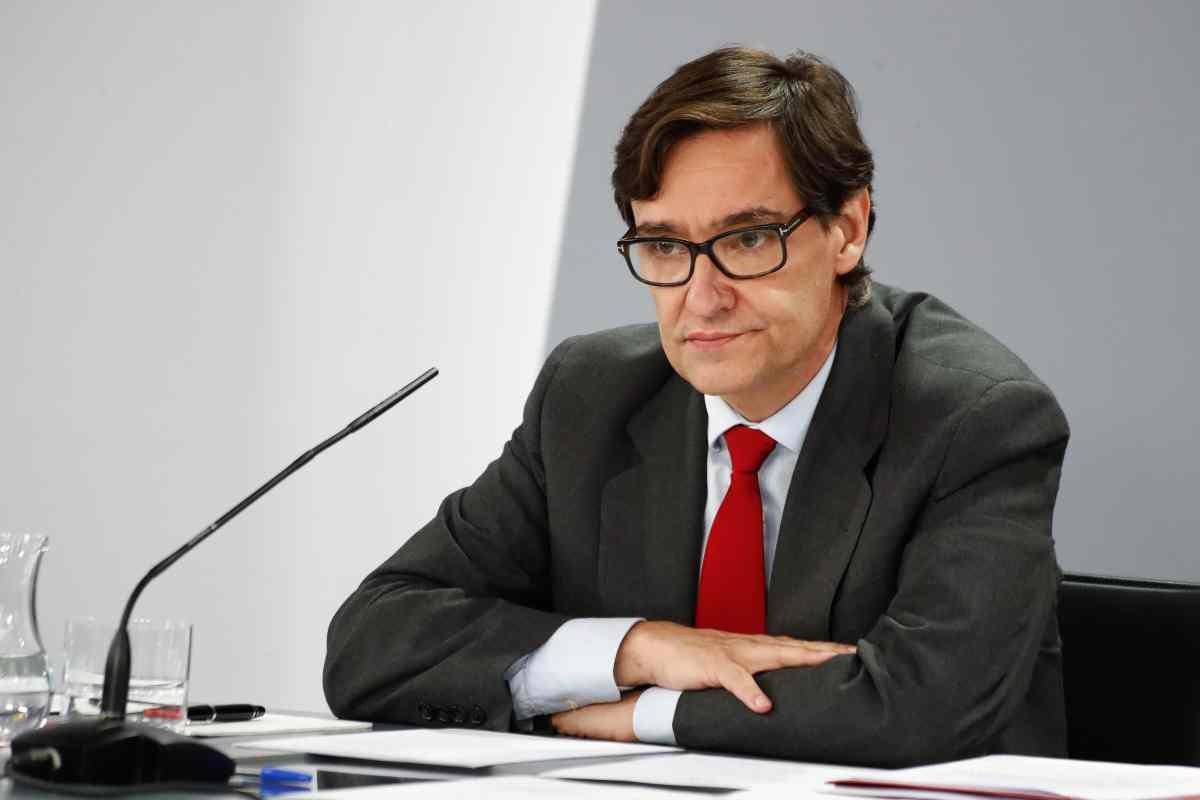 El ministro de Sanidad, Salvador Illa, durante su comparecencia ante los medios tras la Conferencia multisectorial en Madrid, 27 de agosto de 2020