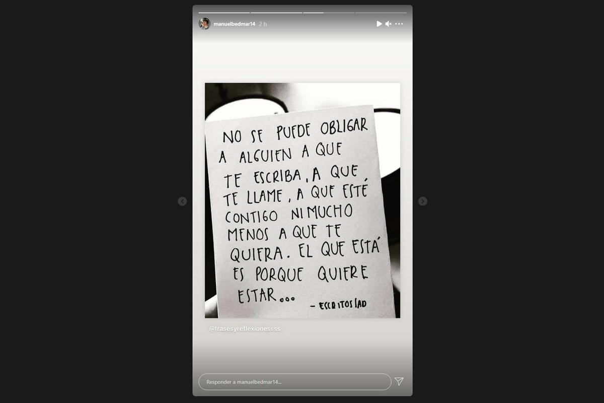 Manuel Bedmar, novio de Rocío Flores, rompe el silencio: 'No se puede obligar'