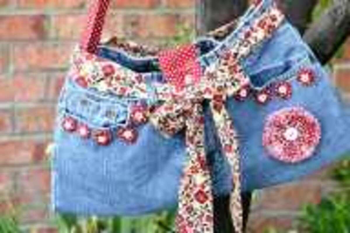 Bolso Con Pantalones Reciclados 1001 Consejos