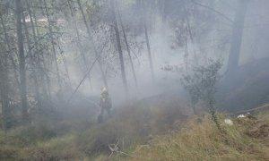 Imatge d'arxiu d'un incendi forestal a Cocentaina
