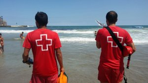 Socorristes de la Creu Roja