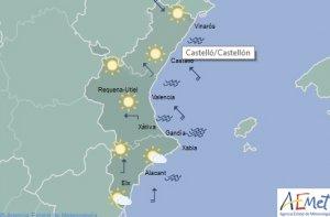 La previsió de l'oratge per a hui dimarts