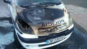 Cotxe de Policia cremat