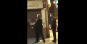 Imatge de la dona colpejada a València
