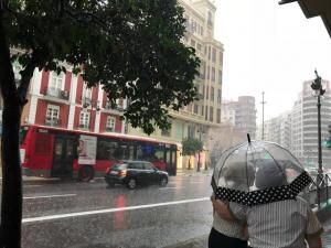 Imatge de pluges a la Comunitat Valenciana