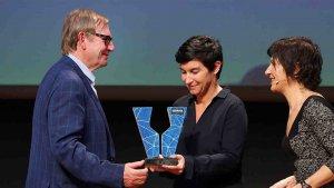 Lliurament del premi al millor vi ecològic d'aquest 2016 a Heretat Oller del Mas