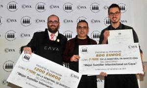D'esquerra a dreta, Jordi Martínez, Idelfonso García i Iván Ruiz