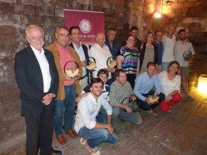 Foto dels guanyadors de l'edició 2017 del concurs de vins de la DO Conca de Barberà