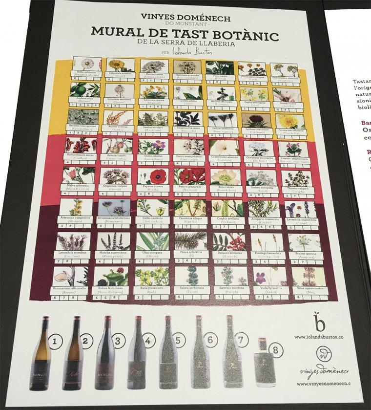 El mural de tast botànic de Vinyes Domènech
