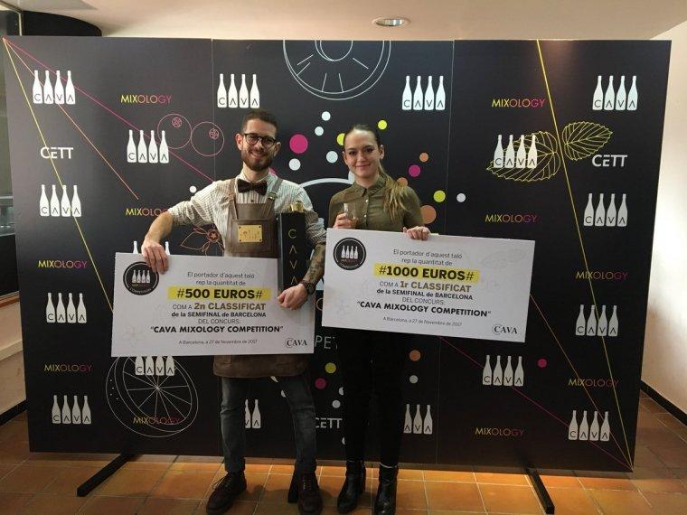 Joao Silva Felicidade i Marina León del Pino representaran a Catalunya en el concurs 'Cava Mixology Competition'