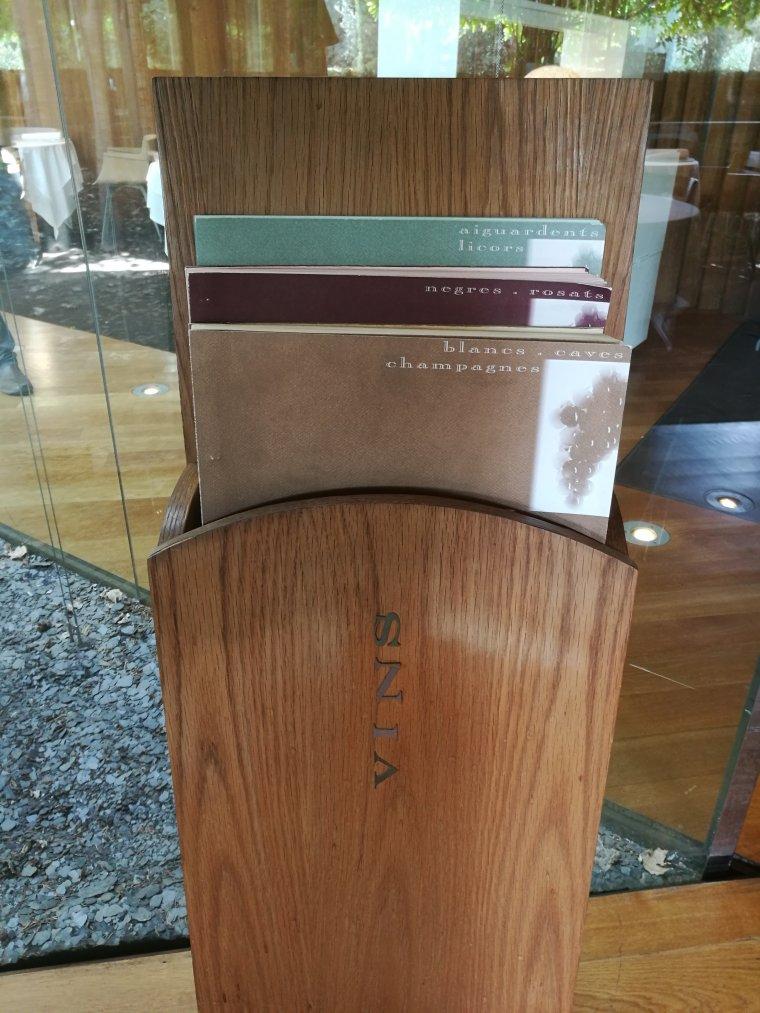 La carta de vins del Celler de Can Roca